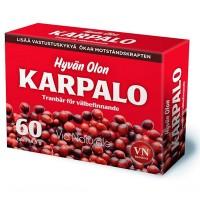 Витамины с клюквой Hyvän Olon Karpalo 60 таблеток Via Naturale