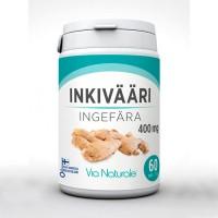 Витамины с экстрактом имбиря INKIVÄÄRI 400 MG 60 таблеток Via Naturale