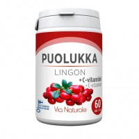 Брусника с витамином С puolukka + C-vitamiini 60 таблеток Via Naturale