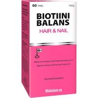 Витамины с биотином для ногтей и волос Biotiini Balans Hair&Nail 60 таблеток Vitabalans