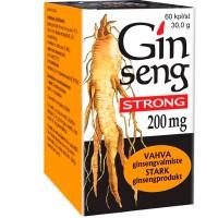 Витамины с женьшенем Ginseng Strong 200 mg 60 капсул Vitabalans