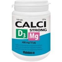 Витамины с кальцием и магнием Calci Strong 400 мг + Magnesium 187 мг + D3-vitamiini 10 мкг 150 таблеток Vitabalans