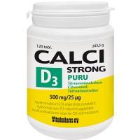 Витамины с кальцием Calci Strong PURU 500 мг + D3-vitamiini 25 мкг 120 жевательных таблеток Vitabalans