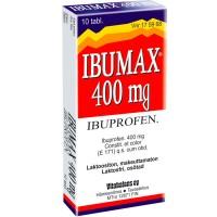 Ибупрофен от боли и жара IBUMAX 400 mg 10 таблеток Vitabalans