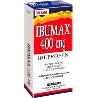 Ибупрофен от боли и жара IBUMAX 400 mg 30 таблеток Vitabalans