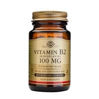 Витамин B2 Vitamin B2 100 мг 100 капсул Solgar