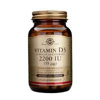 Витамин D3 55 µg D3-vitamiini 100 капсул Solgar