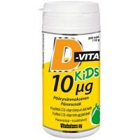 Витамины D-Vita Kids для детей 10 µg 200 таблеток Vitabalans