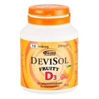 Витамины D3 10 мкг FRUITY D3-Vitamiini 200 сосательных таблеток Devisol