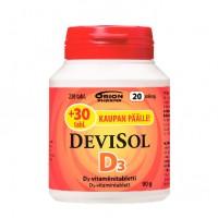 Витамины D3 20 мкг D3-Vitamiini 200 таблеток Devisol