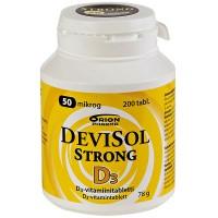 Витамины D3 50 мкг Devisol Strong 200 таблеток Devisol