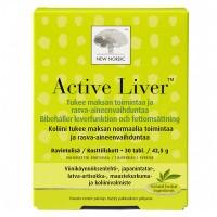 Витамины для печени Active Liver 30 таблеток New Nordic