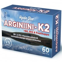 Витамины для сердца Hyvän Olon Arginiini-K2 60 таб. Via Naturale