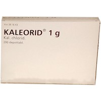 Витамины с калием калеорид Kaleorid 1 g 200 таблеток (коробка) Karo Pharma