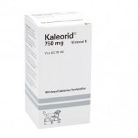 Витамины с калием калеорид Kaleorid 750 mg 100 таблеток Karo Pharma