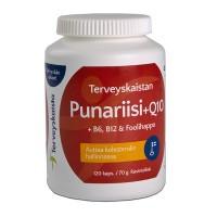 Витамины с красным рисом Punariisi + Q10 120 таблеток Terveyskaista
