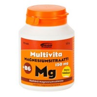 Витаминs с магнием MAGNESIUMSITRAATTI + B6 таблетки 90 шт MultiVita