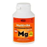 Витаминs с магнием MAGNESIUMSITRAATTI + B6 жевательные таблетки 90 шт MultiVita