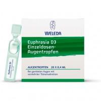 Капли для глаз Euphrasia D3 Augentropfen 20 Х 0,4 мл Weleda
