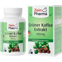 Капсулы с экстрактом зеленого кофе GRÜNER KAFFEE Extrakt 450 mg Kapseln 90 шт Zein Pharma
